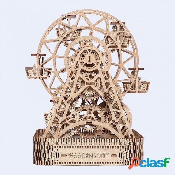 Puzzle 3d en bois - grande roue wooden.city