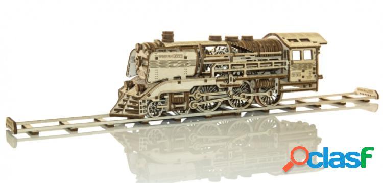 Puzzle 3d en bois - wooden express + rails wooden.city