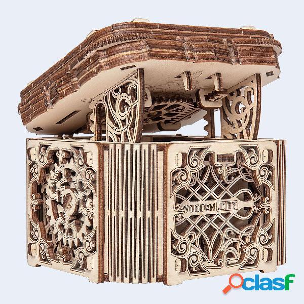 Puzzle 3d en bois - mystery box wooden.city