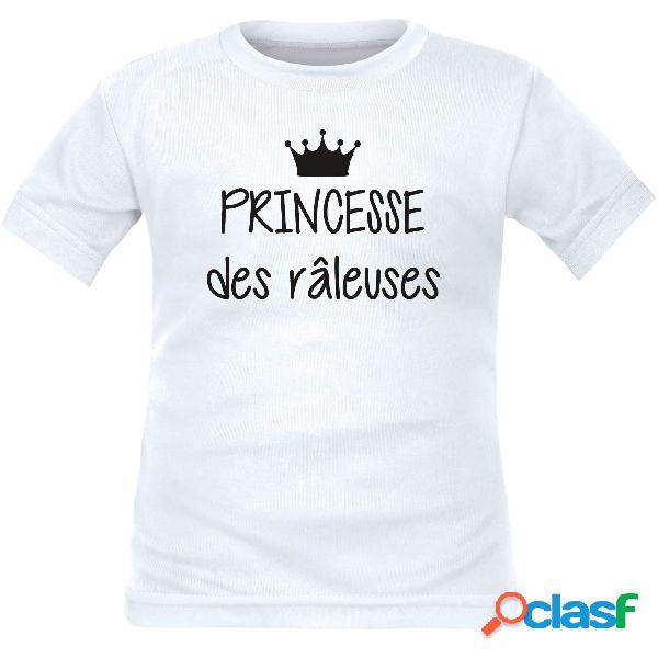 Ensemble famille des tee shirts: reine / princesse des râleuses, roi / prince des râleurs - blanc princesse / 4 ans