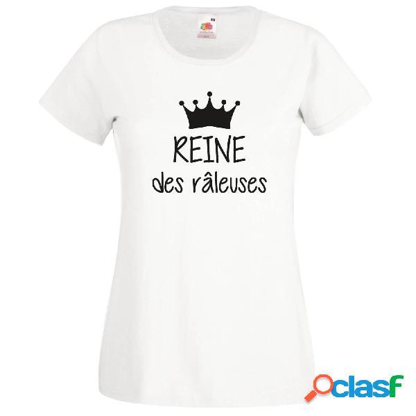 Ensemble famille des tee shirts: reine / princesse des râleuses, roi / prince des râleurs - blanc reine / m