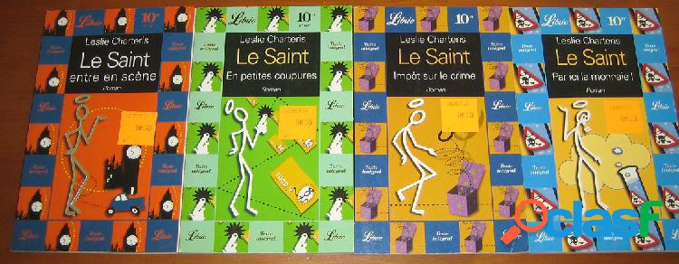 Lot de 4 le saint, leslie charteris