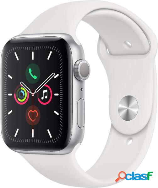 Apple watch serie 5 gps, boîtier 40mm aluminium argent et bracelet sp