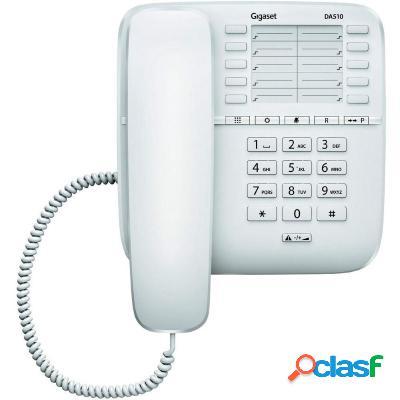 Téléphone de bureau gigaset da510 blanc