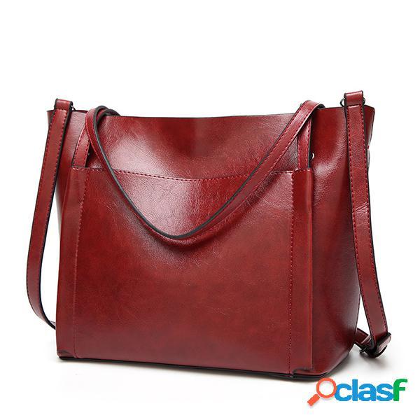 Sac à main femme vintage en cuir sac porté épaule rétro tote bag