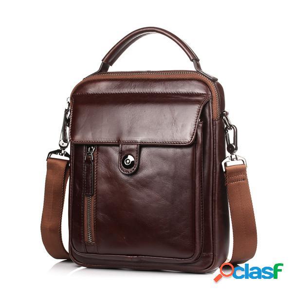 Sac bandoulière cuir véritable vintage sac porté épaule pour homme