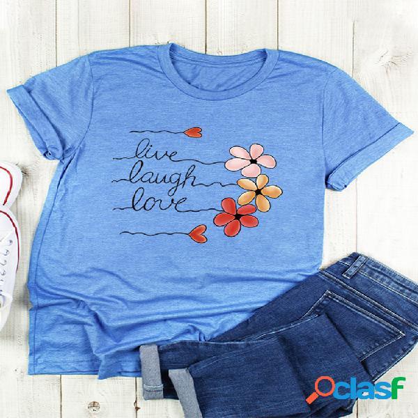 T-shirt décontracté à manches courtes en coton à manches courtes