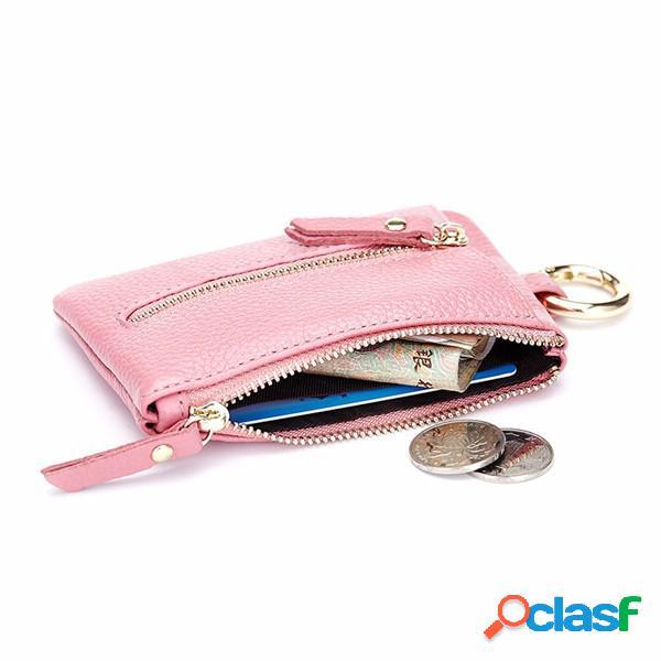 Sac à main élégant en cuir véritable couleur bonbon à clé sacs porte-monnaie sacs à monnaie