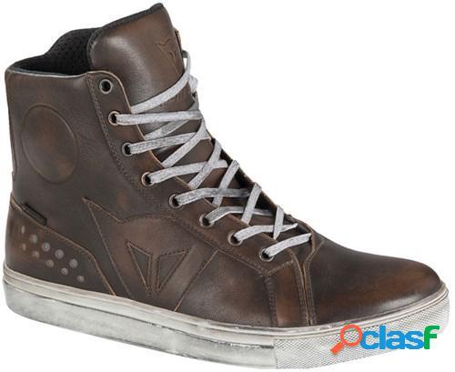 Dainese street rocker d-wp®, chaussures moto, marron foncé
