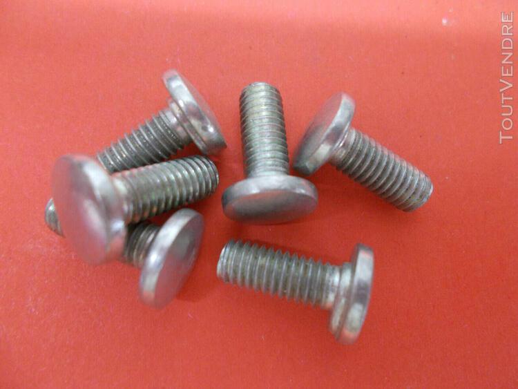 6 boulons tète ronde m6 6x17mm filetage 13mm collet ovale