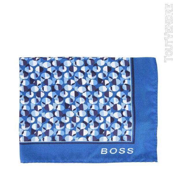 Hugo boss homme 5042948510225426426 bleu soie foulard