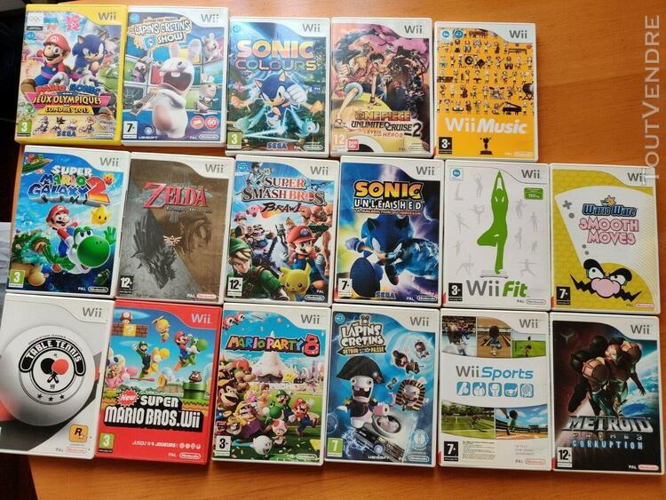 16 jeux wii - mario & sonic aux jo, smash. bro..