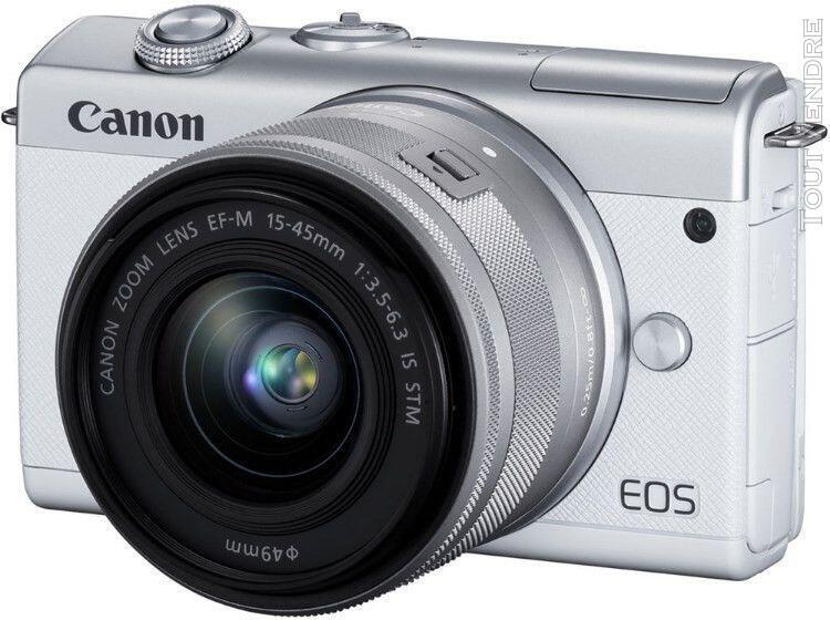 Canon eos m200 compact 24.1 mpix twin kit 22 mm + objectif 1
