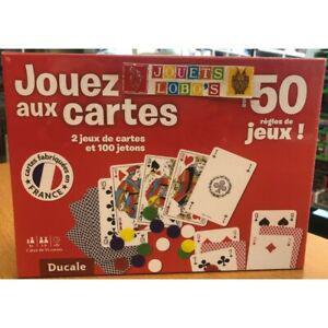 Coffret cartes avec plus de 50 jeux de chez ducale neuf