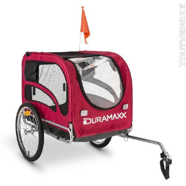 Duramaxx king rex remorque à vélo pour transport d'animaux