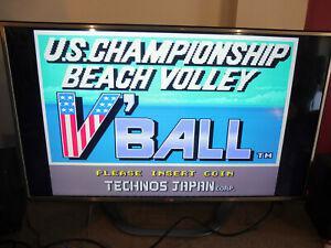 Pcb jamma jeux cafe bar arcade us championship beach volley
