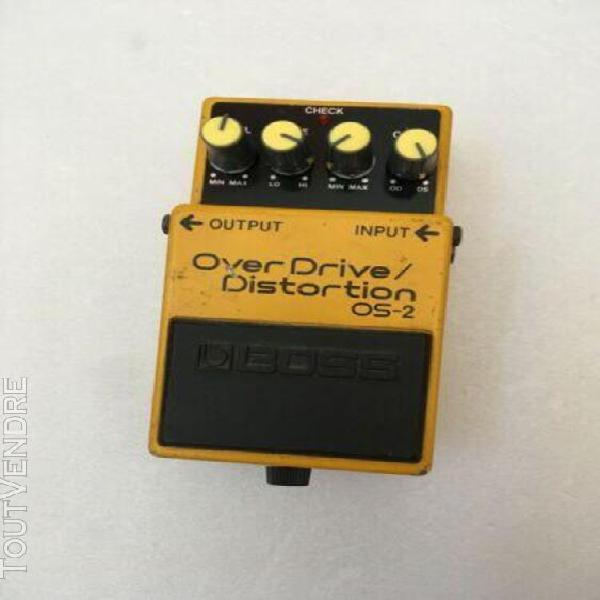 Pedale boss overdrive/distortion os-2 electric guitar pedal