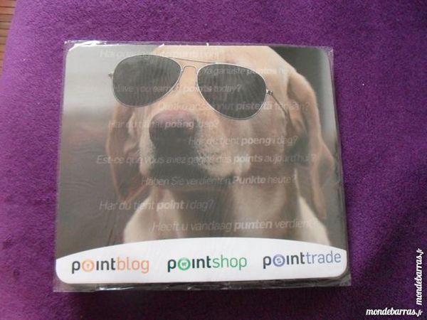 Tapis de souris chien à lunettes souple neuf neuf/revente,