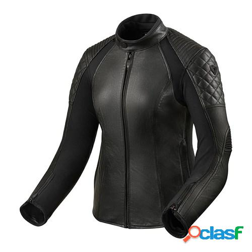 Rev'it! luna lady jacket, veste moto cuir femmes, noir