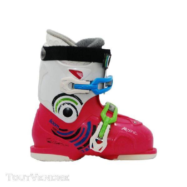 Chaussure de ski occasion junior alpina boom blanc rose