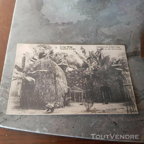Congo belge habitations sur le haut congo 1913