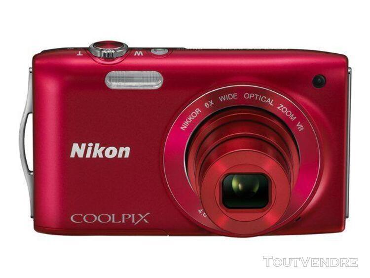 Nikon coolpix s3300 compact 16 mpix rouge