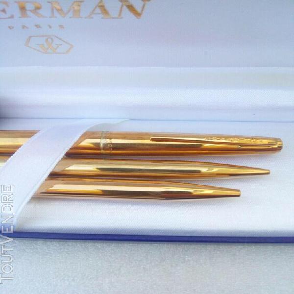 Watermans/wateman -paris/ stylo plume or 18 cts/stylo bille