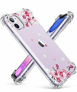 Gviewin iphone 11 case, clear flower design soft & flexible
