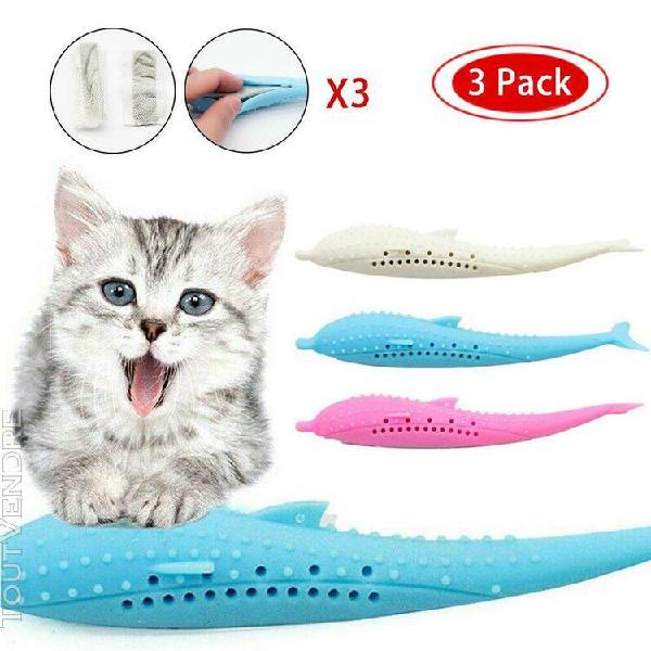 Jouet de chat rechargeable de poisson en silicone souple jou
