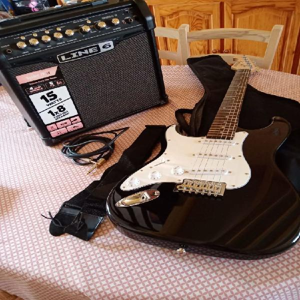 Pack guitare électrique gaucher neuf, goincourt (60000)