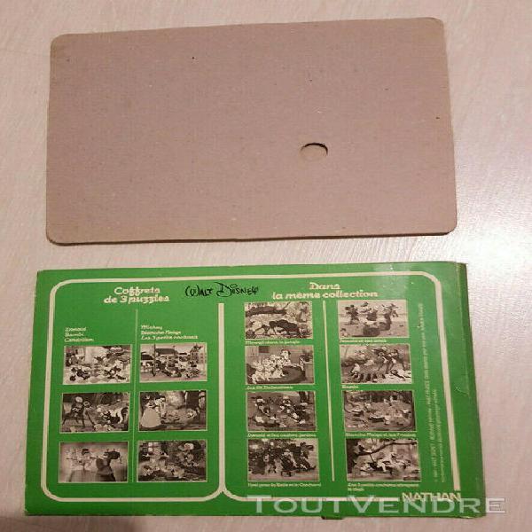 Puzzle vintage année 1981 walt disney petits cochons et
