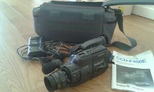 Caméscope sony ccd f450e - handycam vidéo 8 avec batterie,