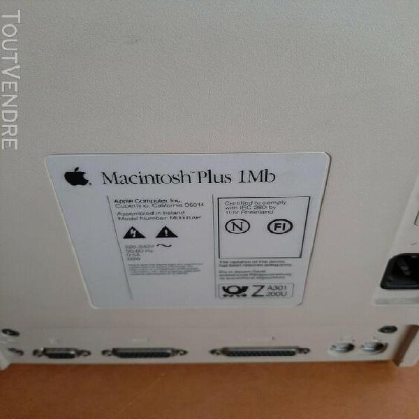 Apple macintosh plus 1mb et son clavier en parfait état