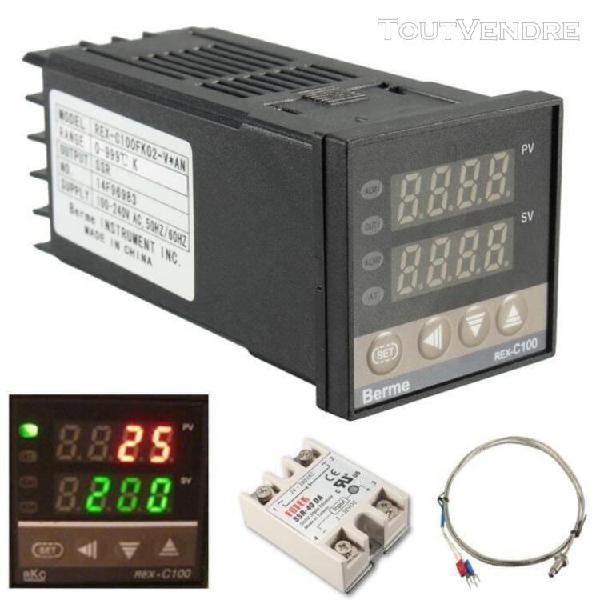 Digital pid contrôleur température régulateur + 40a ssr +