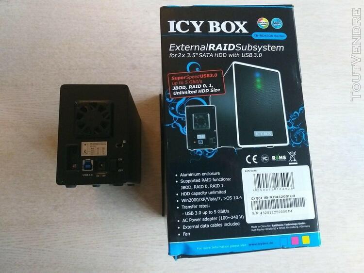 Disque dur raid usb3 icybox
