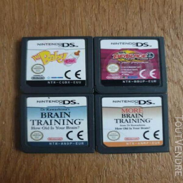 Nintendo ds - lot 4 jeux - my baby girl + beyblade +