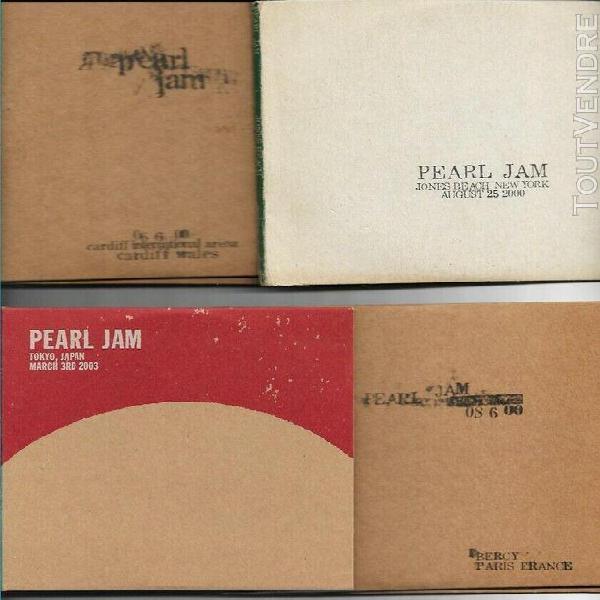 Pearl jam live 4 x 2 cd (paris, new york, cardiff 2000, toki