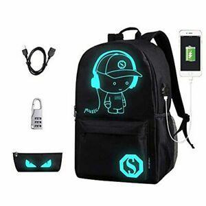 Sacs d'école, anime sac à dos lumineux en toile sac