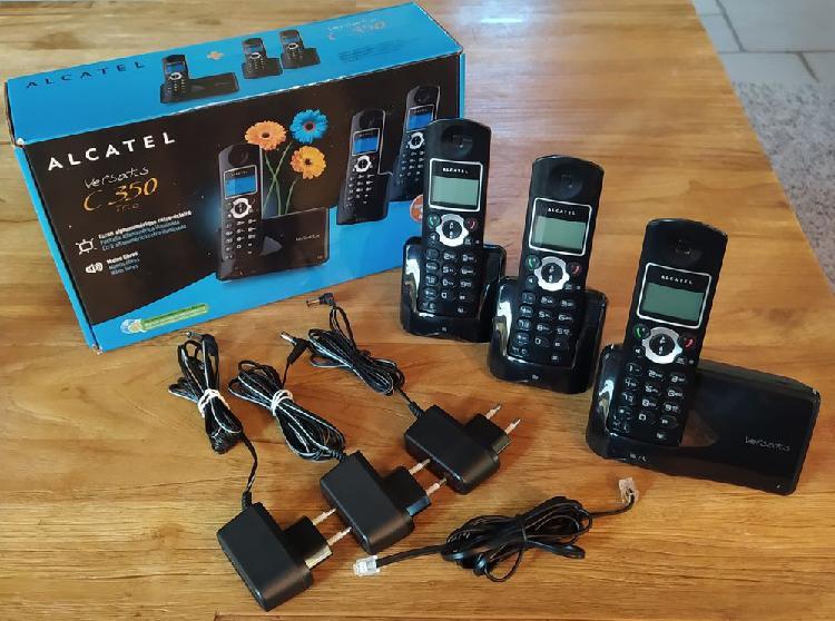 Téléphone fixe alcatel versatis c350 trio noir occasion,