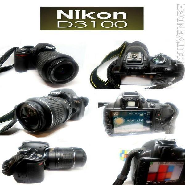 Appareil photo numérique reflex nikon d3100 + objectif af-s