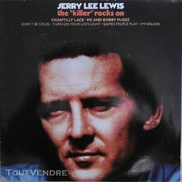 """Lp - jerry lee lewis """"the """"killer"""" rocks on"""" original nether"""