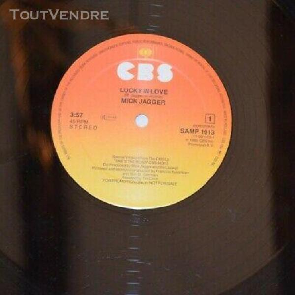 """Mick jagger - lucky in love -1985 dutch 12"""" dj special promo"""