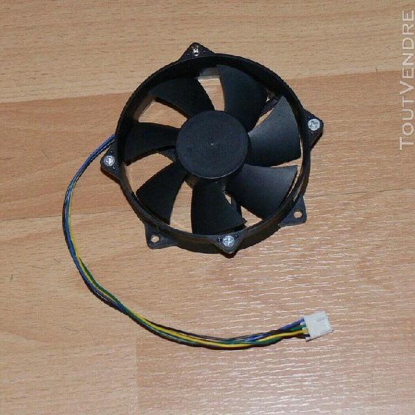 Ventilateur 12v pc 92mm 4 fils everflow f129025su + 4 vis