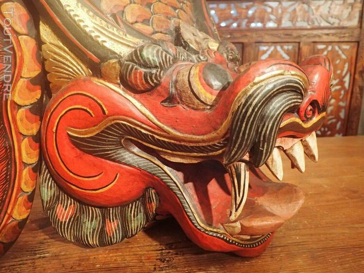 Face de dragon chinois effrayant(40 x24 cm)