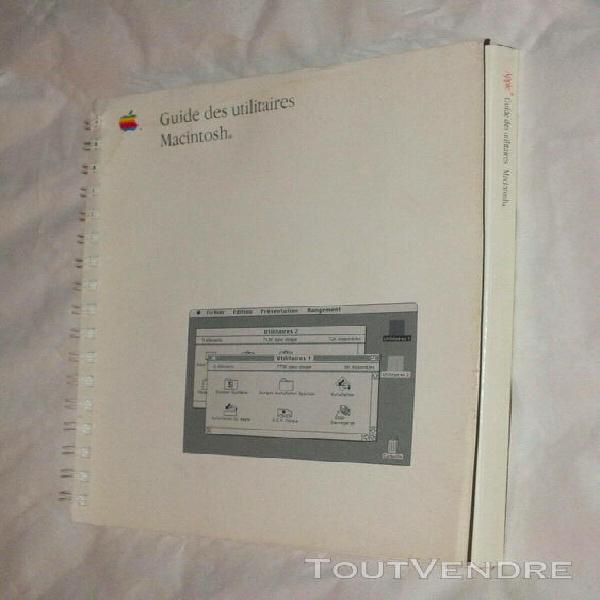apple - guide des utilitaires macintosh 1988 - f030-3283-a -