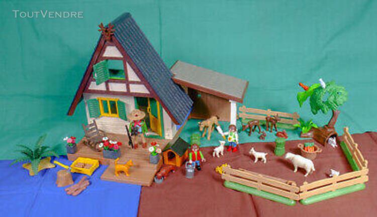 Chalet, maison forestiere playmobil