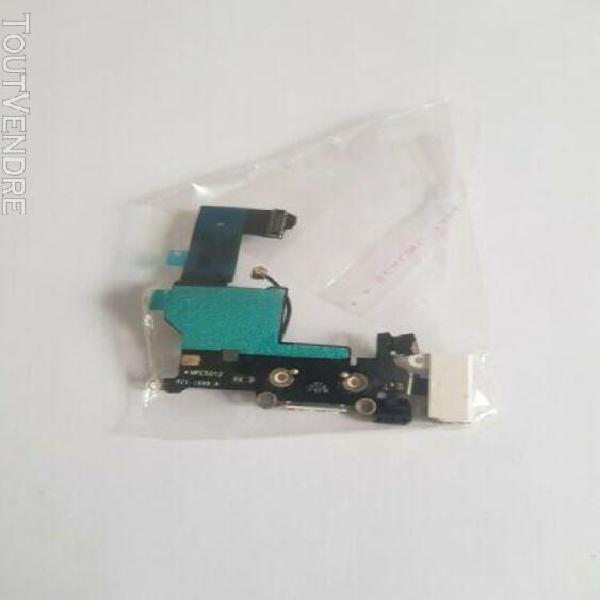 Connecteur de charge iphone 5s blanc -dock port micro usb na