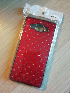 Coque téléphone diamand samsung a5 neuve rouge