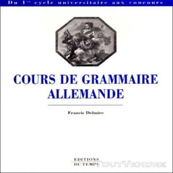 Cours de grammaire allemande