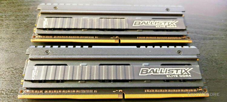 Crucial ballistix elite 2x4go ddr4 3000 mhz cl15 (8 go)